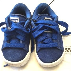 PUMA SMASH TODDLER KIDS SHOES SNEAKERS BLUE 4C